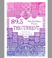 89.3 The Current: 8th Birthday Party Night One Show Poster, Chainsawhands 12