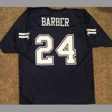 Marian Barber III: Dallas Cowboys NFL Vintage Blue Replica Jersey, Size Large
