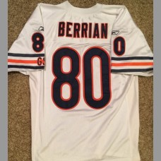 Bernard Berrian: Chicago Bears NFL Stitched Vintage White Jersey, Size Large