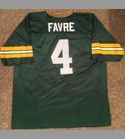 Brett Favre: Green Bay Packers NFL Vintage Green Replica Jersey, Size Large