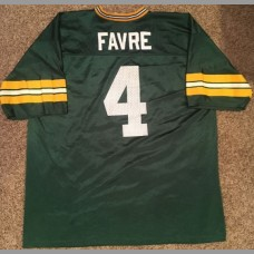 Brett Favre: Green Bay Packers NFL Vintage Green Replica Jersey, Size Large