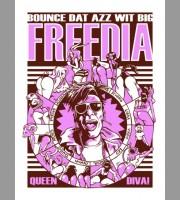 Big Freedia: Switzerland Violet Variant Tour Poster, 2013 Unitus