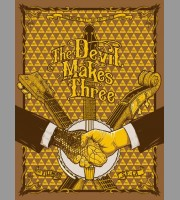 The Devil Makes Three: The Fillmore, San Francisco, CA Poster, 2013 Nylen
