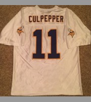Daunte Culpepper: Minnesota Vikings NFL Vintage White Practice Replica Jersey, Size Large