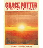 Grace Potter And The Nocturnals: Dallas, TX Show Poster, 2012 Hamline