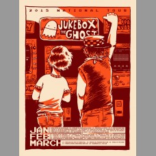 Jukebox The Ghost: National Tour Red Variant Poster, 2015 Unitus