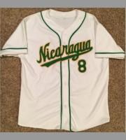 Gustavo Martinez: Nicaragua Baseball World Classic Vintage White & Green Jersey, Large