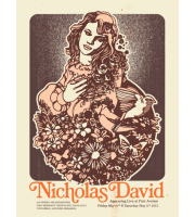 Nicholas David: First Avenue, Minneapolis, MN Concert Poster, 2013 Hamline