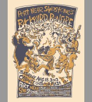 Pert' Near Sandstone's Backyard Bonfire: Minneapolis, MN Show Poster, 2012 Unitus