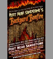Pert' Near Sandstone's Backyard Bonfire: Minneapolis, MN Promo Poster, 2012 Mc.