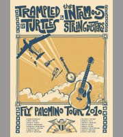 Trampled By Turtles & The Infamous Stringdusters: Fly Palomino Tour Poster, 2010 Unitus