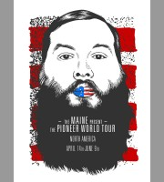 The Maine: Pioneer World Tour Poster, 2012 Unitus