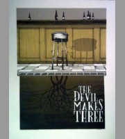 The Devil Makes Three: Fall Tour Poster, 2012 Santora