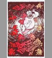 The Ponys: Turf Club, MN Show Poster, 2010 Dwitt