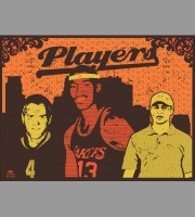 Players: Orange Variant Art Poster, Mc. 2011