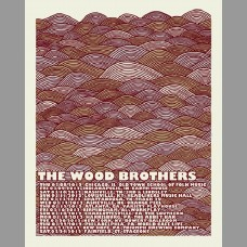 The Wood Brothers: Winter Variant Tour Poster, 2012 Shaw