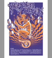 Rhythm Devils: Fall Tour Orange Variant Tour Poster, 2010 Unitus