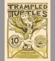 Trampled By Turtles: 10th Year Anniversary Tour Poster, 2013 Unitus