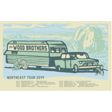 The Wood Brothers: North East Tour Poster, 2014 Hamline