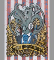 Squid In Morning Dress: Red Variant Art Poster, Jones 2012