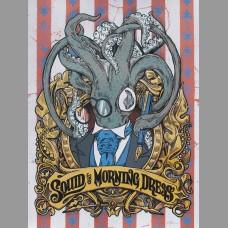 Squid In Morning Dress: Red Variant Art Poster, Jones 2012